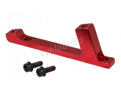 adapter přední post /post 180mm červený elox