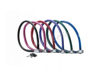 MasterLock Ocelový kabelový zámek 55cm x  6mm 2 klíče, vinylový potah -  modrý