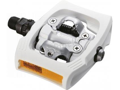 SHIMANO pedály MTB ostatní PD-T400 CLICK'R zarážky SM-SH56 bílé