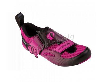 PEARL iZUMi obuv W TRI FLY IV CARBON, světle růžová/černá, 40