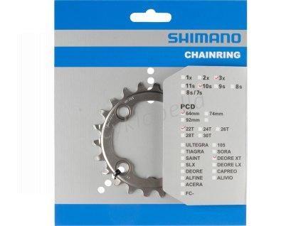 SHIMANO převodník XT FC-M782 22 z 10 spd trojpřevodník AN