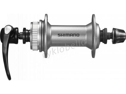 SHIMANO nába přední ALIVIO HB-M405 pro kotouč (centerlock) 36 děr RU: 133 mm stříbrná