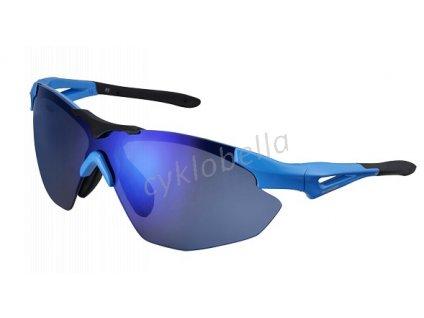 SHIMANO brýle S40R, Lightmodrá/černá, skla kouřová modrá zrcadlová