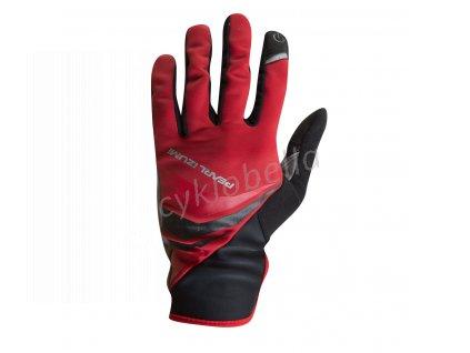 PEARL iZUMi CYCLONE GEL rukavice (5 - 10°C), TRUE červená, M