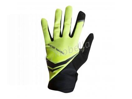 PEARL iZUMi CYCLONE GEL rukavice (5 - 10°C), SCREAMING žlutá, S