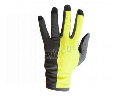 PEARL iZUMi ESCAPE THERMAL rukavice (7 - 18°C), SCREAMING žlutá, L