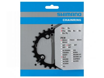 SHIMANO převodník SLX FC-M7000-11-2 24 z 11 spd dvojpřevodník pro 34-24 z