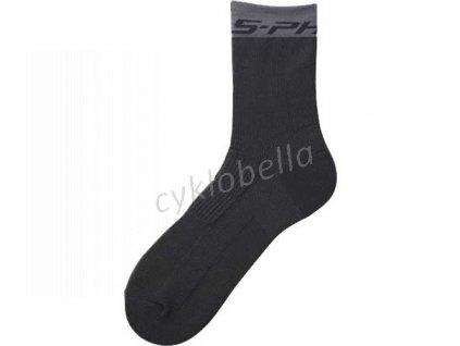 SHIMANO S-PHYRE vysoké ponožky, černá, S (obuv 37-39)