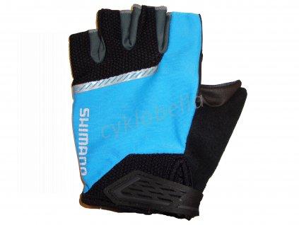 SHIMANO Original rukavice, černá/modrá, M