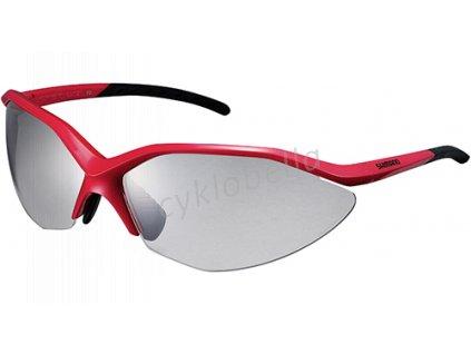 SHIMANO brýle S52R, červená/černá, skla fotochromatická šedá