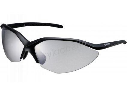 SHIMANO brýle S52R, černá/černá, skla fotochromatická šedá