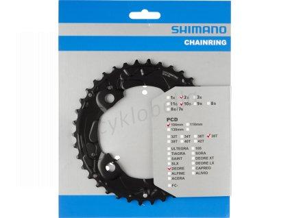 SHIMANO převodník MTB/Trekking-ostatní 38 z 10 spd dvojpřevodník AM pro 38-24 z