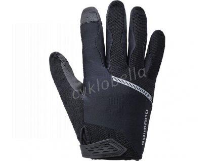 SHIMANO Original Celoprsté rukavice, černá, M