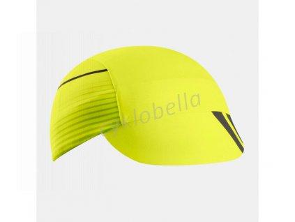 PEARL iZUMi TRANSFER cyklistická čepice, černá/SCR žlutá, ONE