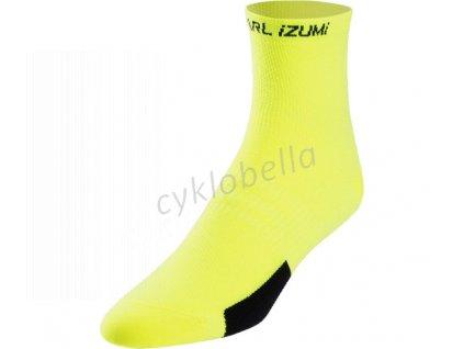 PEARL iZUMi ELITE ponožky, PI CORE SCREAMING žlutá, L
