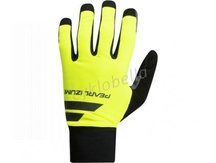 PEARL iZUMi ESCAPE SOFTSHELL LITE rukavice, SCREAMING žlutá/černá, L