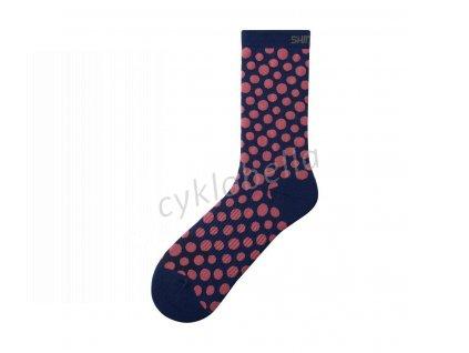 SHIMANO ORIGINAL TALL ponožky, námořní, bílá, S-M (36-40)