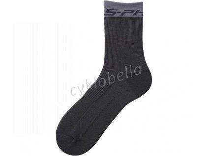 SHIMANO S-PHYRE TALL ponožky, černá, XL (obuv 46-48)