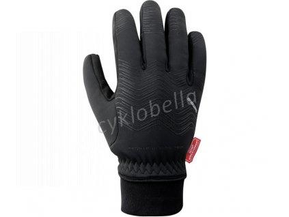 SHIMANO WINDSTOPPER THERMAL reflexní rukavice (pod 0°C), černá, L