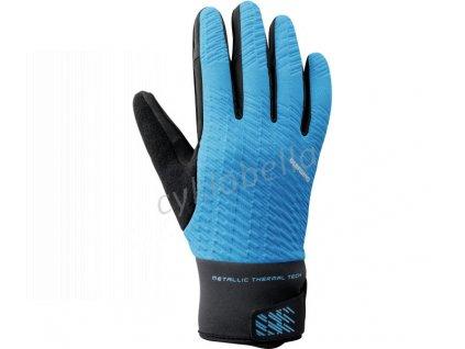 SHIMANO WINDBREAK THERMAL reflexní rukavice (5-10°C), modré, L