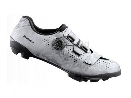 SHIMANO gravel obuv SH-RX800MS, stříbrná, 43