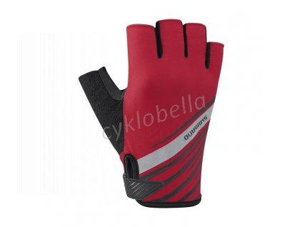 SHIMANO rukavice, červené, XL