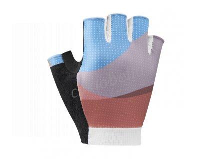 SHIMANO SUMIRE rukavice dámské, modré/oranžové, M