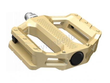 SHIMANO pedály MTB-ostatní PD-EF202 Flat pedály bez odrazek zlatá pro E-Bike/Trekking/Urban bal
