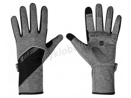rukavice F GALE softshell, jaro-podzim, šedé XS