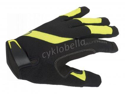Rukavice Men SingleT X5 d/p M (černá/žlutá-neonová)