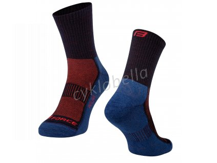 ponožky FORCE POLAR, modro-červené L-XL/42-47