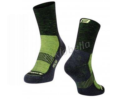 ponožky FORCE POLAR, černo-fluo S-M/36-41