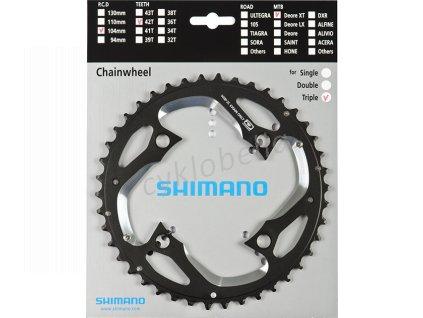 SHIMANO převodník XT FC-M780 42 z 10 spd trojpřevodník AE