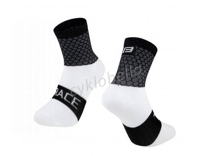 ponožky FORCE TRACE, černo-bílé S-M/36-41