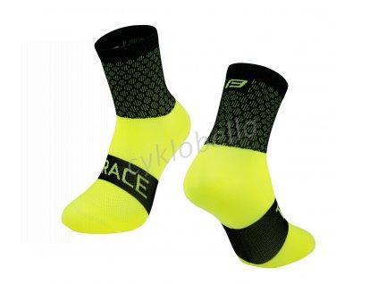 ponožky FORCE TRACE, černo-fluo S-M/36-41