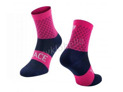 ponožky FORCE TRACE, růžovo-modré S-M/36-41