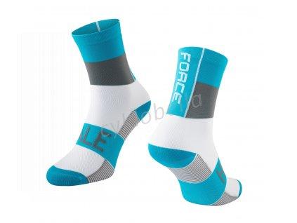 ponožky FORCE HALE, modro-šedo-bílé L-XL/42-47