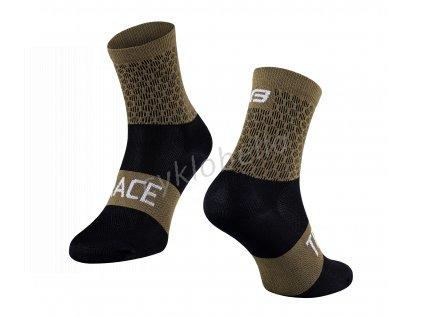 ponožky FORCE TRACE, zeleno-černé S-M/36-41