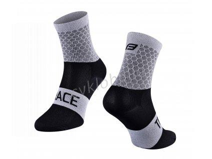 ponožky FORCE TRACE, šedo-černé S-M/36-41
