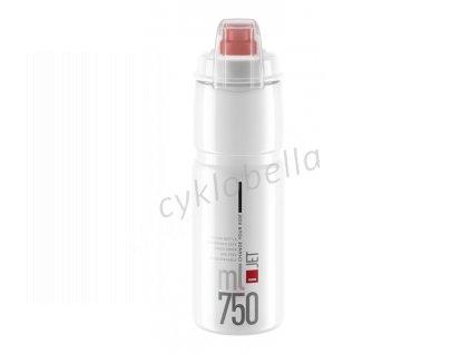 Láhev ELITE Jet Plus 0,75l - čirá, červené logo