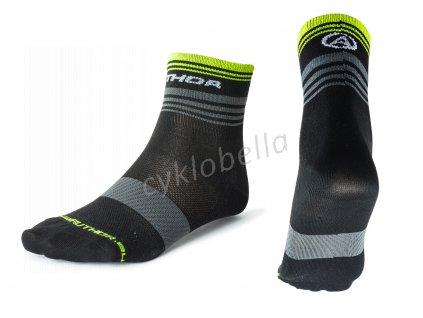 Ponožky ProLite X0 L 41-44 (černá/šedá/žlutá-neonová)