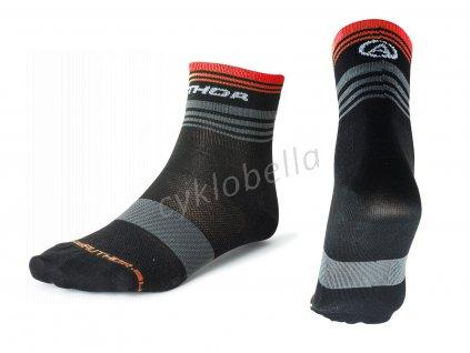 Ponožky ProLite X0 M 38-42 (černá/šedá/červená)