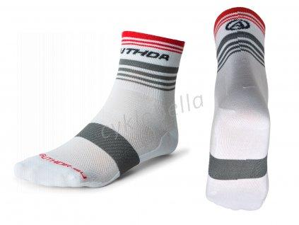 Ponožky ProLite X0 L 41-44 (bílá/šedá/červená)