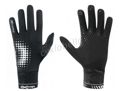 rukavice FORCE EXTRA, jaro-podzim, černé XS