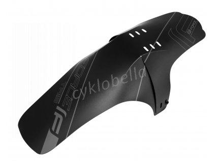 blatník FORCE TRIS na přední vidlici, plast, černý