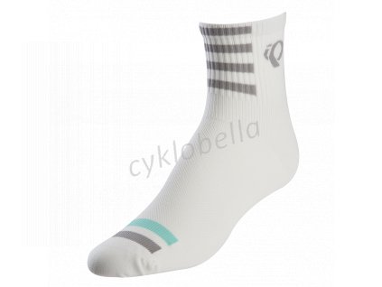 PEARL iZUMi W PRO ponožky, bílá/černá, M