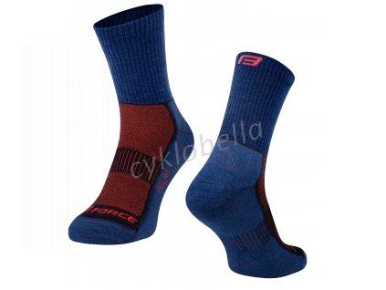 ponožky FORCE POLAR, modré L-XL/42-47