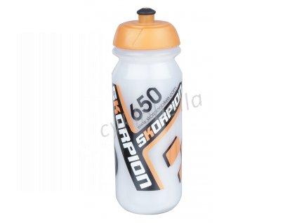 Láhev Skorpion 0,65l - průhledno-oranžová