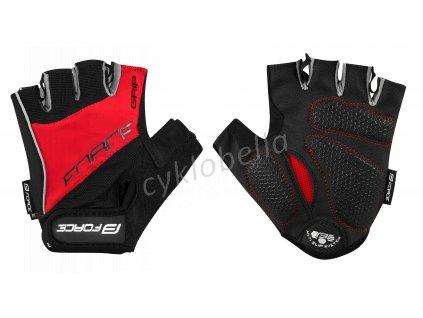 rukavice FORCE GRIP gel, červené XL