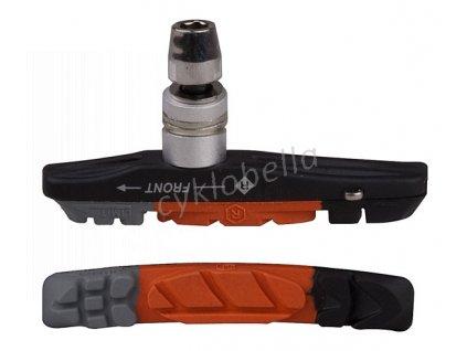 Brzdové špalíky PRO-T Plus V-brake Cartridge třísměsová EVO 65CV